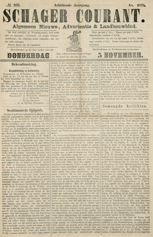 Schager Courant 1874-11-05