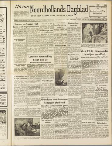 Nieuw Noordhollandsch Dagblad : voor Alkmaar en omgeving 1949-07-09