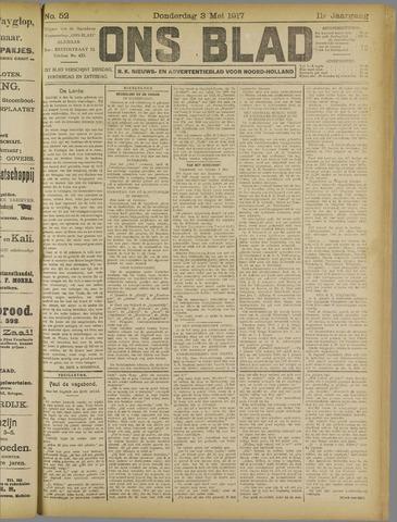 Ons Blad : katholiek nieuwsblad voor N-H 1917-05-03