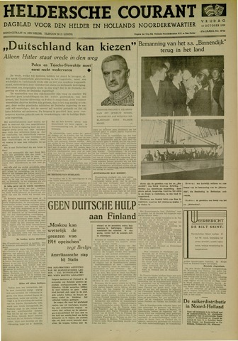 Heldersche Courant 1939-10-13