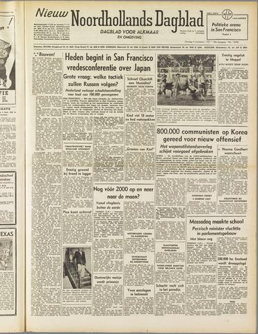 Nieuw Noordhollandsch Dagblad : voor Alkmaar en omgeving 1951-09-04