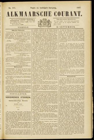 Alkmaarsche Courant 1887-09-16