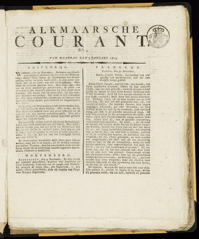 Alkmaarsche Courant 1815-01-09