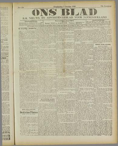 Ons Blad : katholiek nieuwsblad voor N-H 1920-10-07