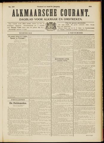 Alkmaarsche Courant 1910-11-02