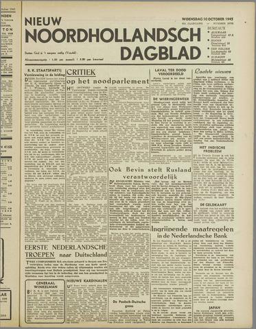 Nieuw Noordhollandsch Dagblad : voor Alkmaar en omgeving 1945-10-10