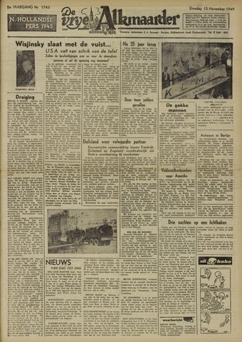 De Vrije Alkmaarder 1949-11-15