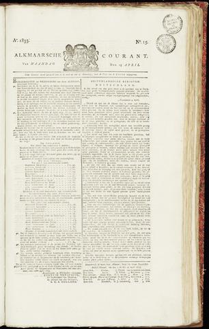 Alkmaarsche Courant 1833-04-15