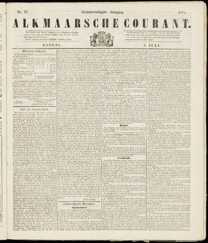 Alkmaarsche Courant 1874-07-05