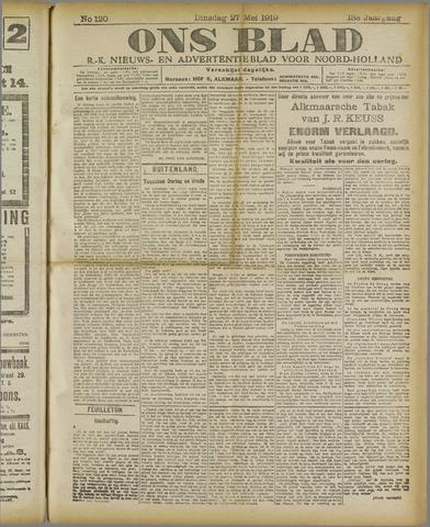 Ons Blad : katholiek nieuwsblad voor N-H 1919-05-27