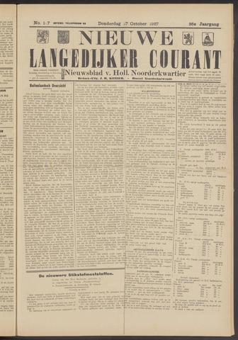 Nieuwe Langedijker Courant 1927-10-27