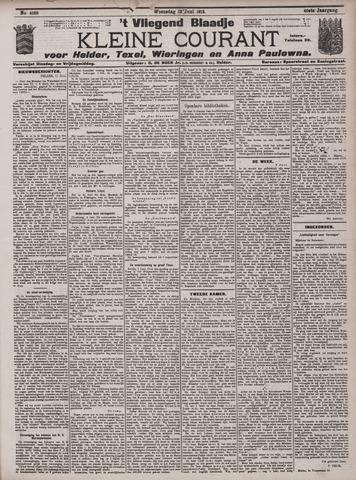 Vliegend blaadje : nieuws- en advertentiebode voor Den Helder 1912-06-12