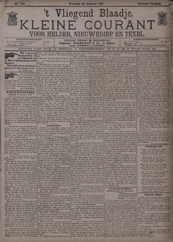 Vliegend blaadje : nieuws- en advertentiebode voor Den Helder 1887-12-28