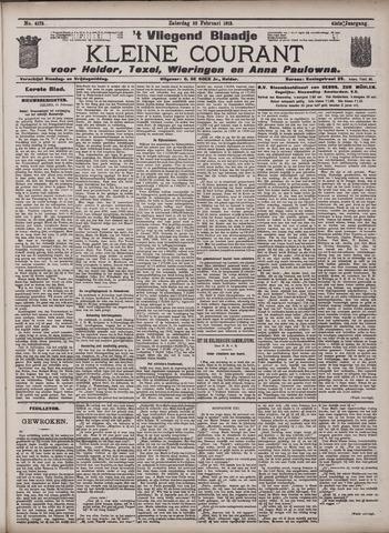 Vliegend blaadje : nieuws- en advertentiebode voor Den Helder 1913-02-22