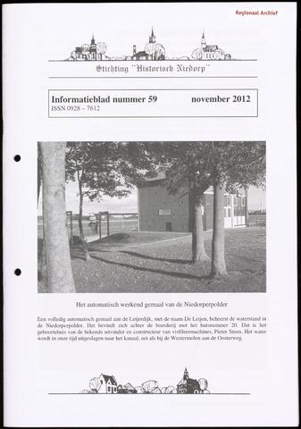 Informatieblad stichting Historisch Niedorp 2012-11-01
