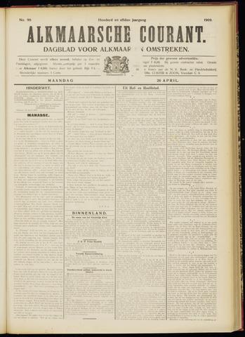 Alkmaarsche Courant 1909-04-26