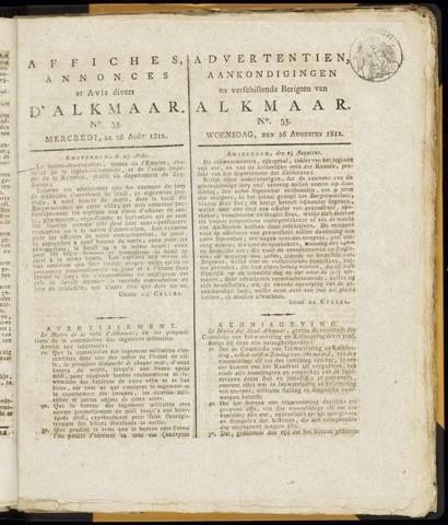 Alkmaarsche Courant 1812-08-26