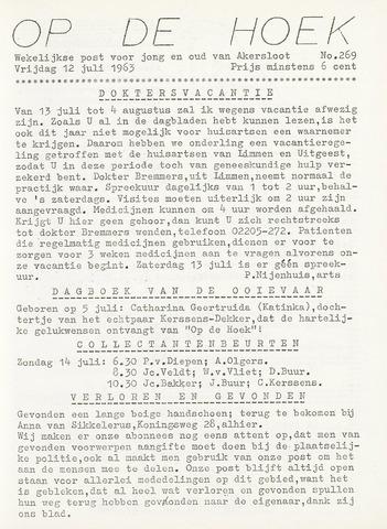 Op De Hoek, weekblad voor Akersloot 1963-07-12