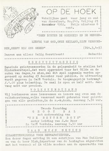 Op De Hoek, weekblad voor Akersloot 1962-12-21