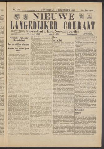Nieuwe Langedijker Courant 1930-12-18