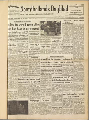 Nieuw Noordhollandsch Dagblad : voor Alkmaar en omgeving 1950-01-02