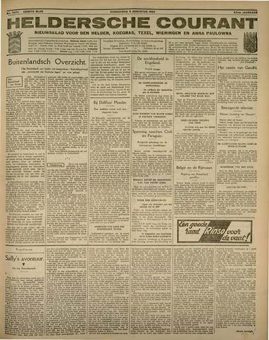 Heldersche Courant 1934-08-09