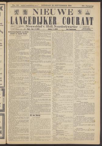 Nieuwe Langedijker Courant 1930-09-30