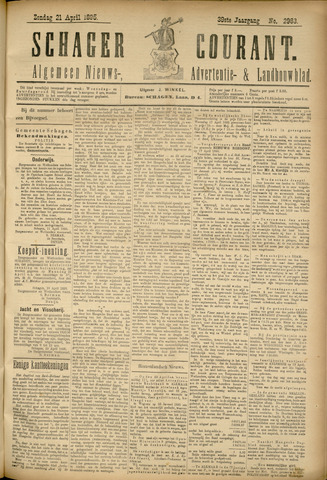 Schager Courant 1895-04-21