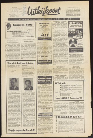 Uitkijkpost : nieuwsblad voor Heiloo e.o. 1970-05-20