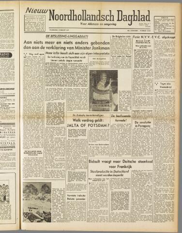 Nieuw Noordhollandsch Dagblad : voor Alkmaar en omgeving 1947-03-19