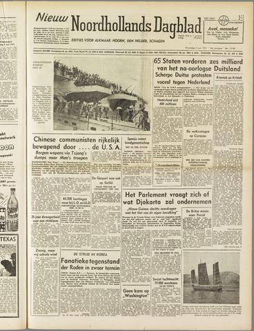 Nieuw Noordhollandsch Dagblad : voor Alkmaar en omgeving 1951-06-06