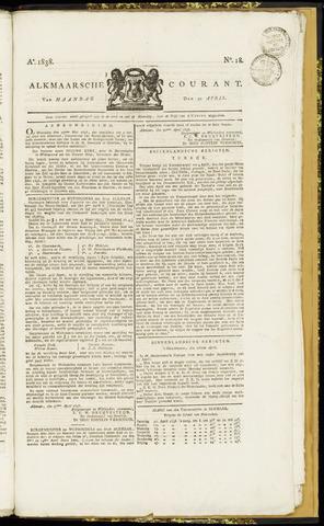 Alkmaarsche Courant 1838-04-30