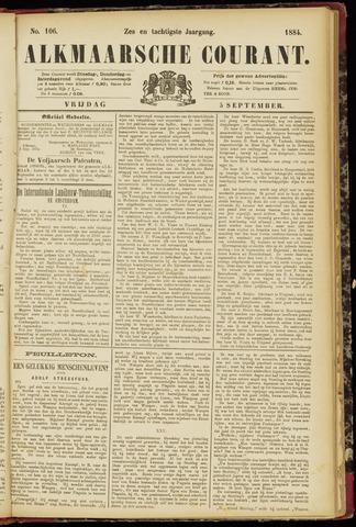 Alkmaarsche Courant 1884-09-05