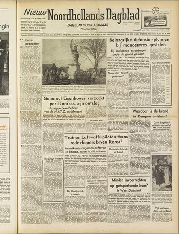 Nieuw Noordhollandsch Dagblad : voor Alkmaar en omgeving 1952-04-12