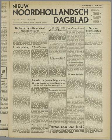 Nieuw Noordhollandsch Dagblad : voor Alkmaar en omgeving 1945-07-11