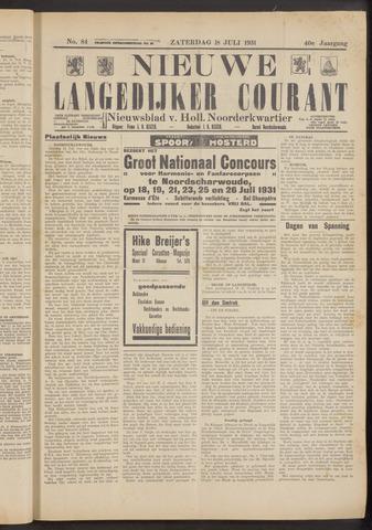 Nieuwe Langedijker Courant 1931-07-18