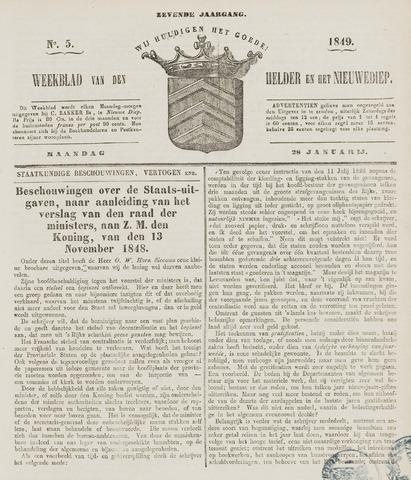 Weekblad van Den Helder en het Nieuwediep 1849-01-29