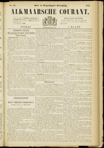 Alkmaarsche Courant 1891-03-01