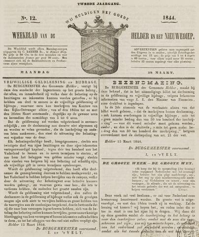 Weekblad van Den Helder en het Nieuwediep 1844-03-18