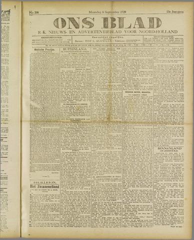 Ons Blad : katholiek nieuwsblad voor N-H 1920-09-06