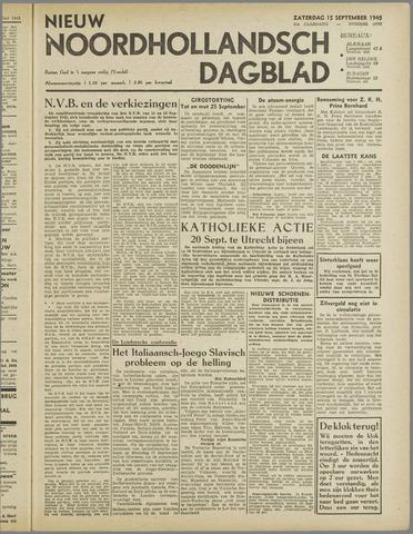 Nieuw Noordhollandsch Dagblad : voor Alkmaar en omgeving 1945-09-15