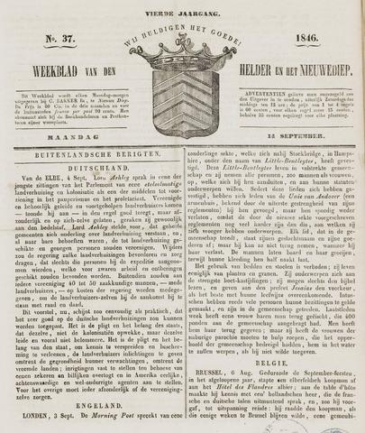 Weekblad van Den Helder en het Nieuwediep 1846-09-14