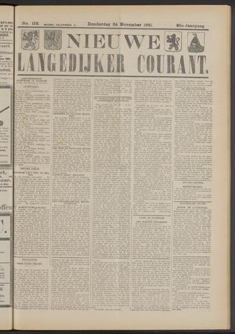 Nieuwe Langedijker Courant 1921-11-24
