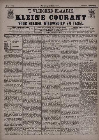 Vliegend blaadje : nieuws- en advertentiebode voor Den Helder 1884-06-07