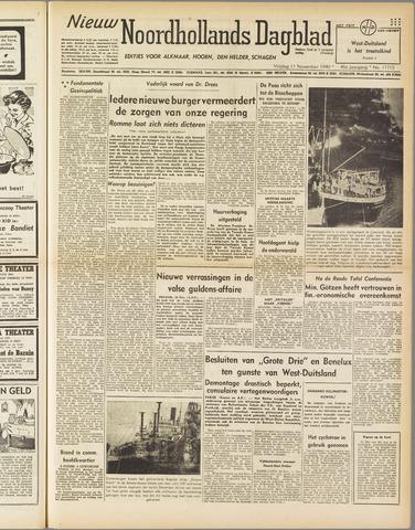 Nieuw Noordhollandsch Dagblad : voor Alkmaar en omgeving 1949-11-11