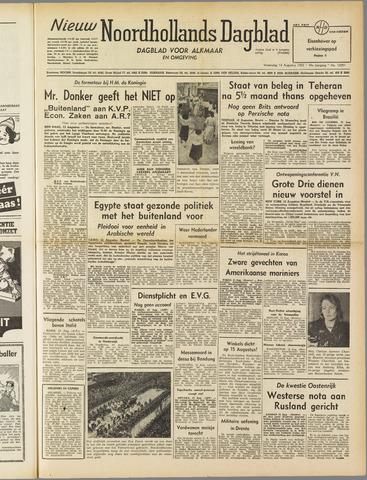 Nieuw Noordhollandsch Dagblad : voor Alkmaar en omgeving 1952-08-13