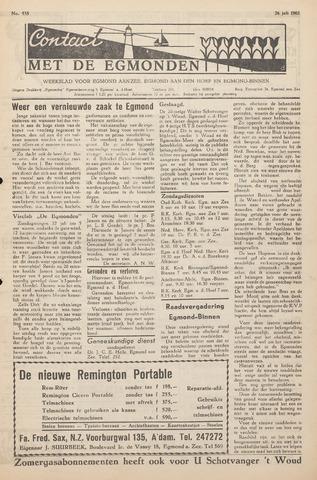 Contact met de Egmonden 1962-07-26