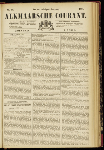 Alkmaarsche Courant 1884-04-02