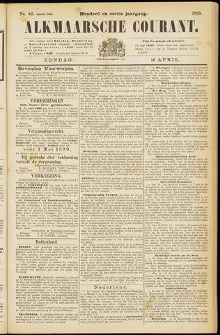 Alkmaarsche Courant 1899-04-16