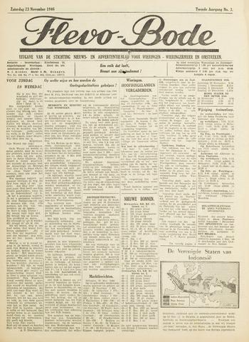 Flevo-bode: nieuwsblad voor Wieringen-Wieringermeer 1946-11-23